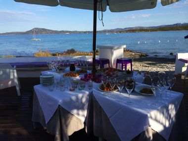 Restaurant am strand in Olbia